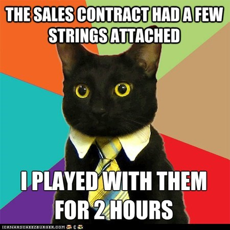 business,Business Cat,contracts,memecats,Memes,sales,strings