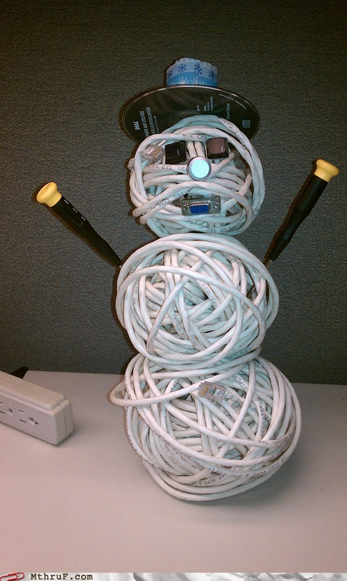 Cat5 the cord man is online, and ready for Christmas festivities