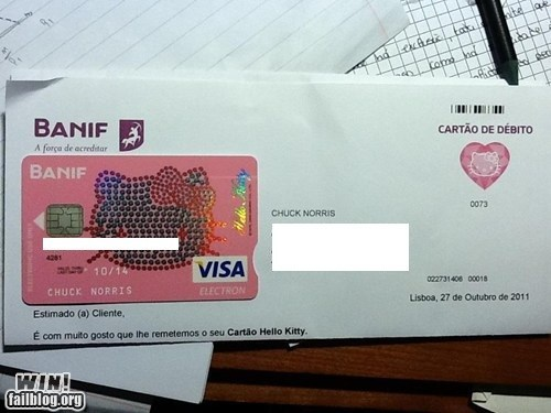 chuck norris,credit card,cute,hello kitty,sparkly