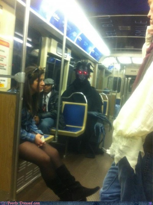 Demon Soul Eater Rides the Bus to Work