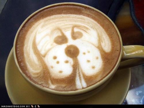coffee,dog art,latte,latte art
