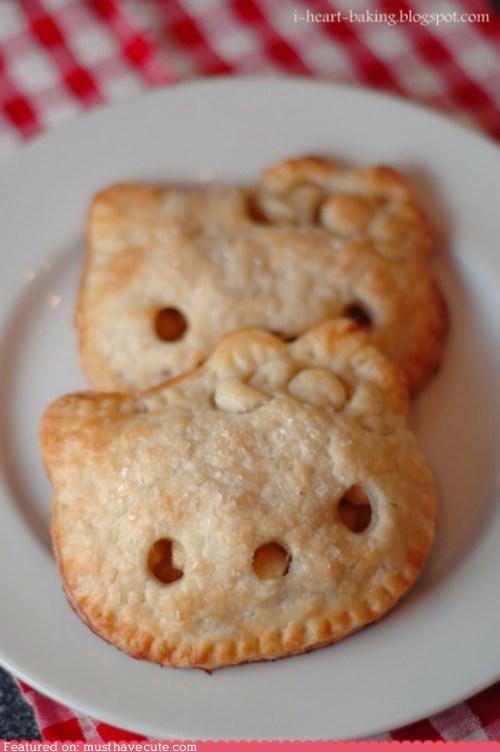 crust,epicute,face,hello kitty,pie,pocket pie