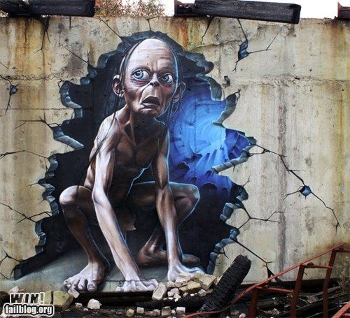 art,detail,gollum,Hall of Fame,nerdgasm,pop culture,Street Art,tag,urban