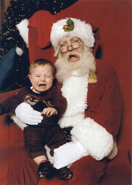 Babies,baby,cry-baby-cry,crying,flail,mall,Planking,santa