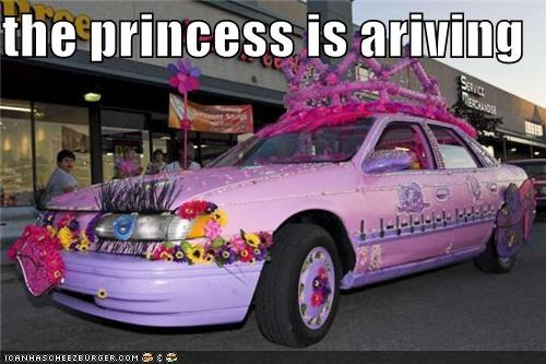 the princess is ariving
