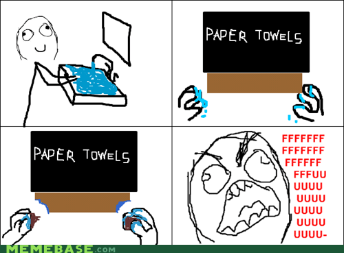 bathroom,paper towels,Rage Comics,rip,ripped