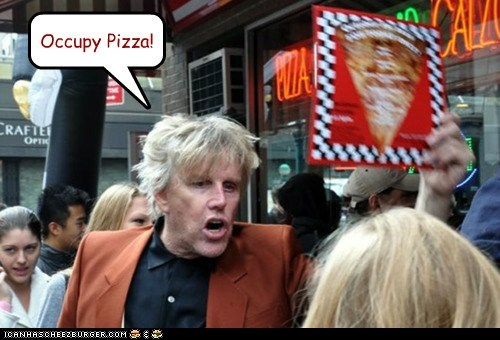 gary busey,occupy,Occupy Wall Street,pizza,protests,wtf