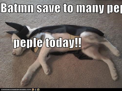 Batmn save to many peple    peple today!!
