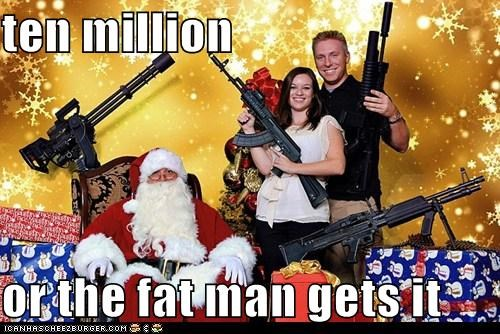 christmas,guns,political pictures,santa claus