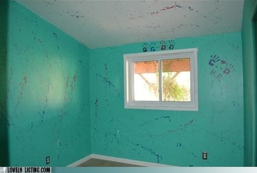 awful,mess,paint,splatter,squirt gun
