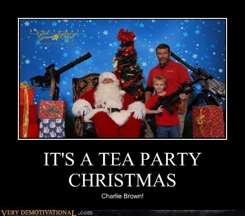 christmas,guns,hilarious,tea party