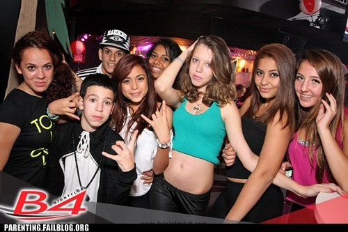dance club,night club,Parenting Fail,partying,pedobear,too young,underage,youth