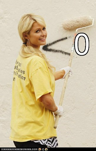 famous for no reason,graffiti,gross,painting,paris hilton,zero
