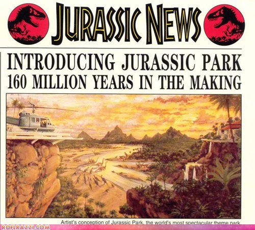 "The ""Jurassic Park"" Promotional Newsletter"
