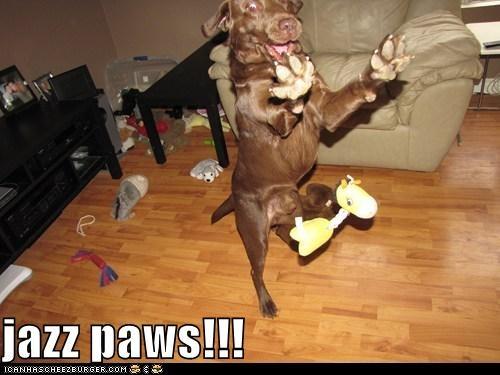 jazz paws!!!