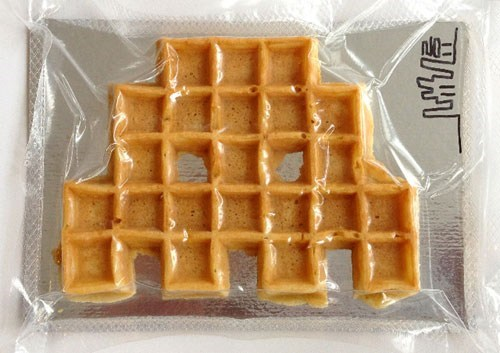 Space Invader Waffles of the Day