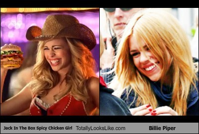 Jack In The Box Spicy Chicken Girl Totally Looks Like Billie Piper