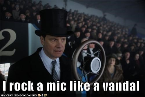 Colin Firth,lyrics,rappers,rapping,the-kings-speech,vandal