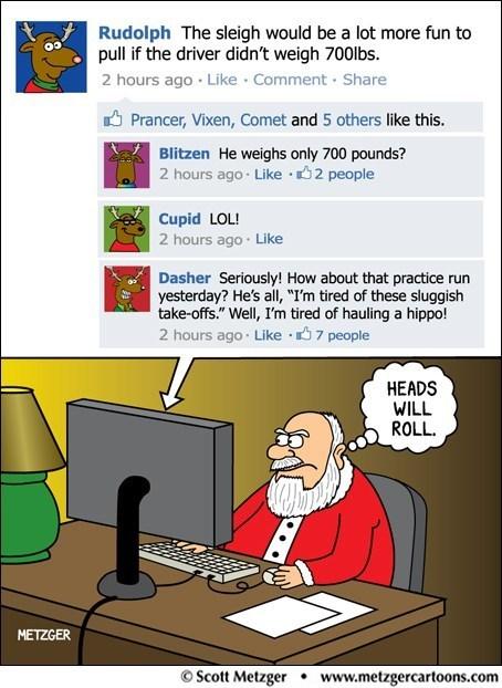 christmas,comic,creeper,facebook,g rated,Hall of Fame,holiday,reindeer,santa,Sketchy Santa