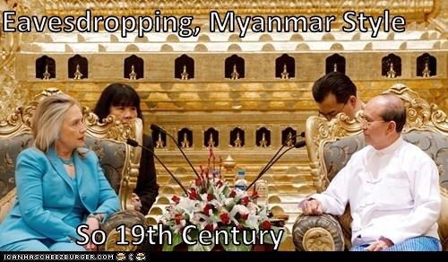 Eavesdropping, Myanmar Style  So 19th Century