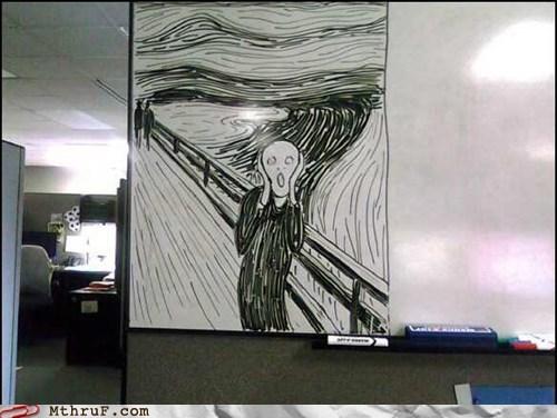 amazaballs,office art,white board