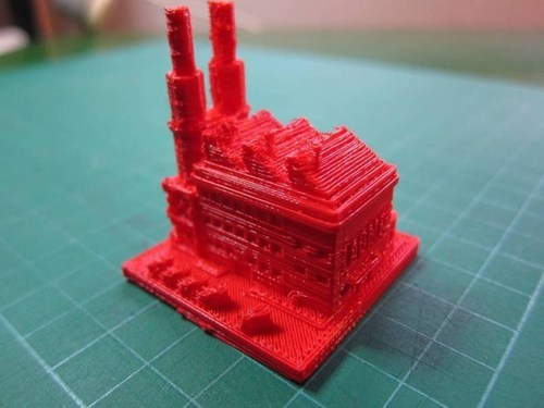 3D-Printed SimCity 2000 Buildings of the Day
