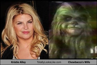 Kirstie Alley Totally Looks Like Chewbacca's Wife