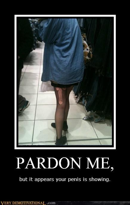 hilarious,pardon me,peen,run,stocking