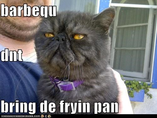 barbequ dnt bring de fryin pan