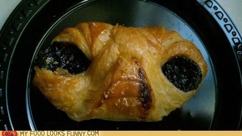 alien,breakfast,danish,E.T,face,pastry