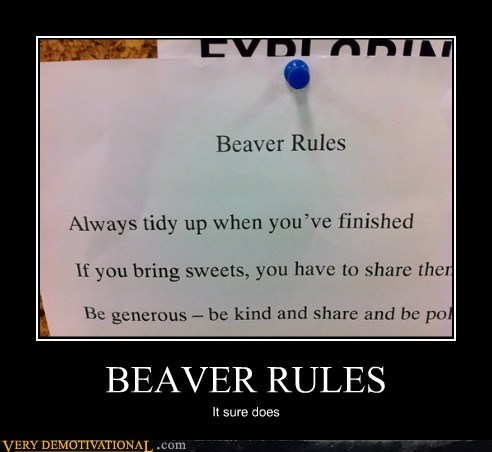 beaver,hilarious,lady parts,rules