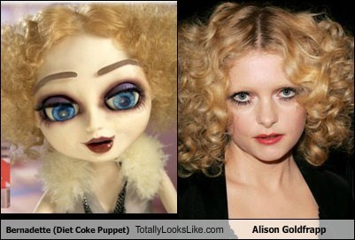 Bernadette (Diet Coke Puppet) Totally Looks Like Alison Goldfrapp