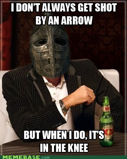 The most interesting guard in Skyrim