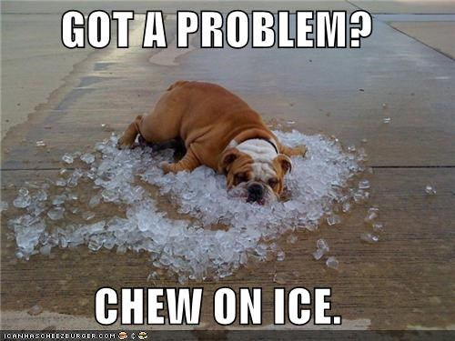 GOT A PROBLEM?  CHEW ON ICE.