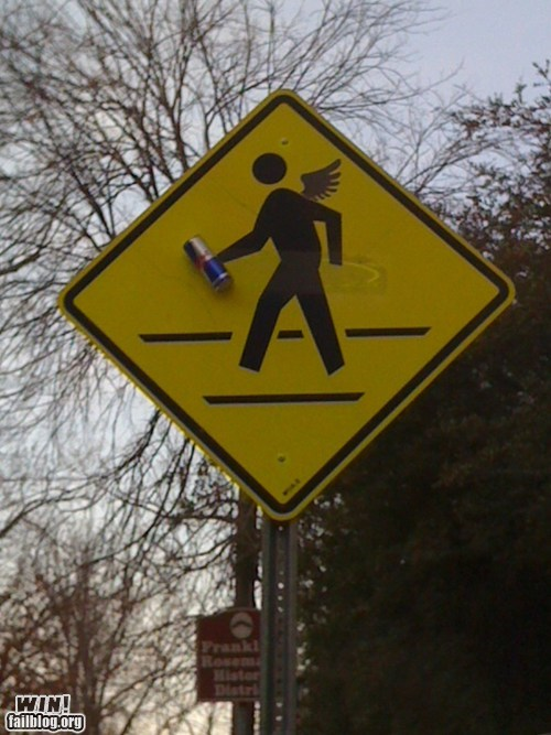 classic,cross walk,energy drink,hacked irl,red bull,sign,wings,yield