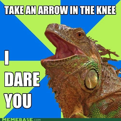 I Dare You Iguana says..