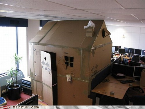 Office Forts: No Girls Allowed Because of Cooties