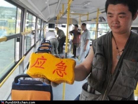 bricks,bus,China,DIY,political pictures
