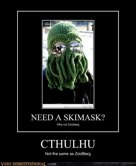 cthulhu,hilarious,ski mask,Zoidberg
