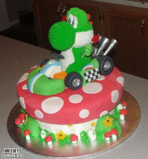 Mario Kart Cake WIN