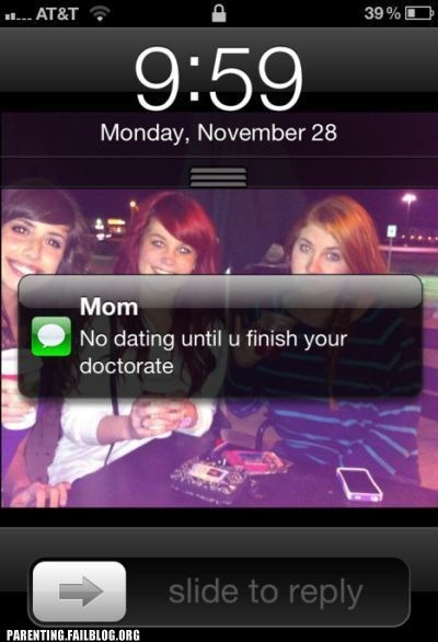 Thanks for the Reminder, Mom