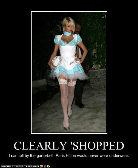 garter belt,paris hilton,photoshopped,roflrazzi,underwear