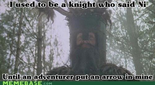 adventurer,arrow,knights,Memes,monty python,ni,shrubberies