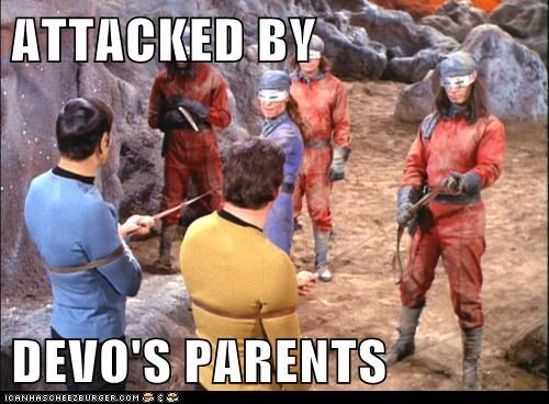 ATTACKED BY   DEVO'S PARENTS