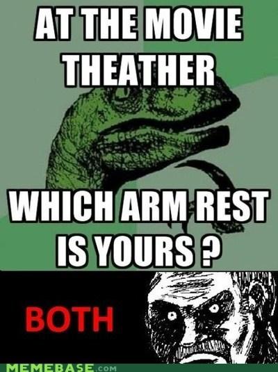 arm rest,coke,movies,philosoraptor,slurpee,theater