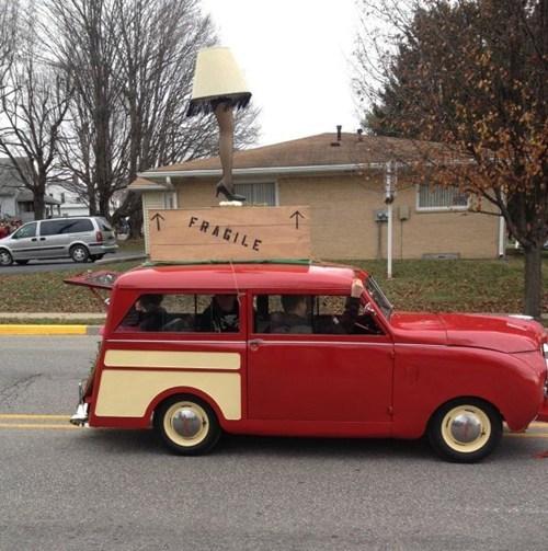car,christmas,Christmas Story,Movie,parade,pop culture,reference