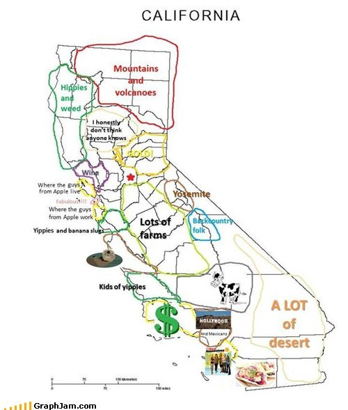 Hella Awesome Map of California