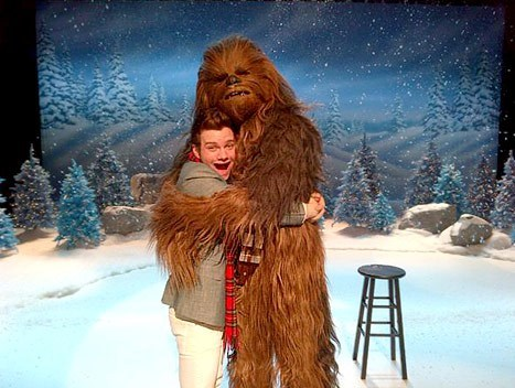 Chewbacca on Glee of the Day