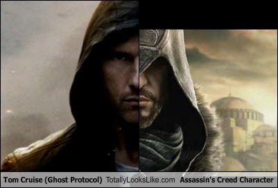 Tom Cruise (Ghost Protocol) Totally Looks Like Assassin's Creed Character