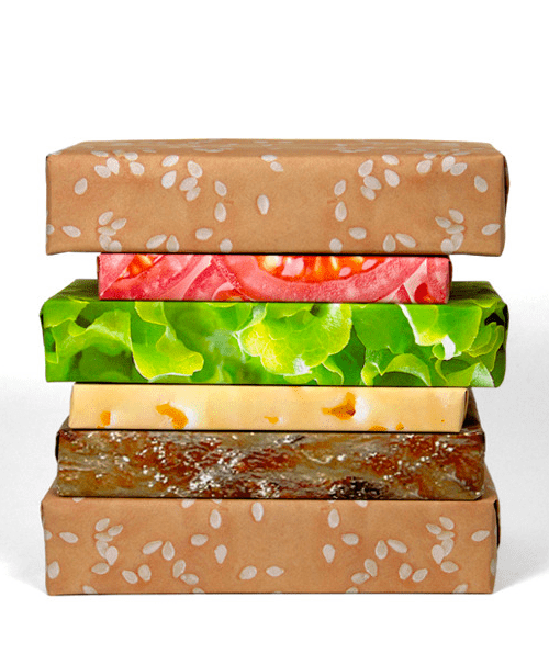 Cheeseburger Wrapping Paper of the Day